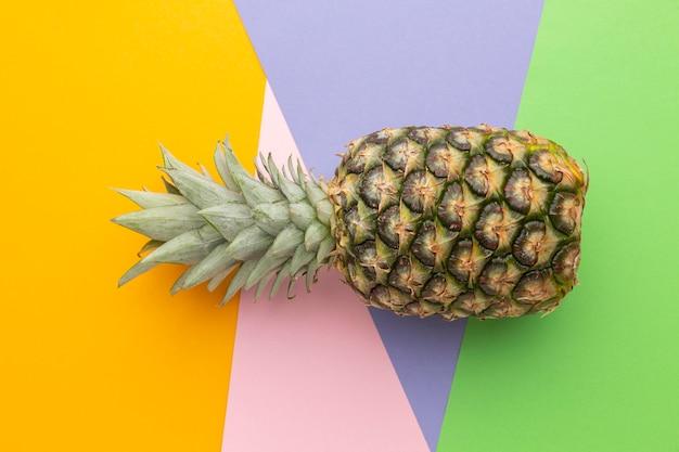 Vue de dessus délicieux ananas