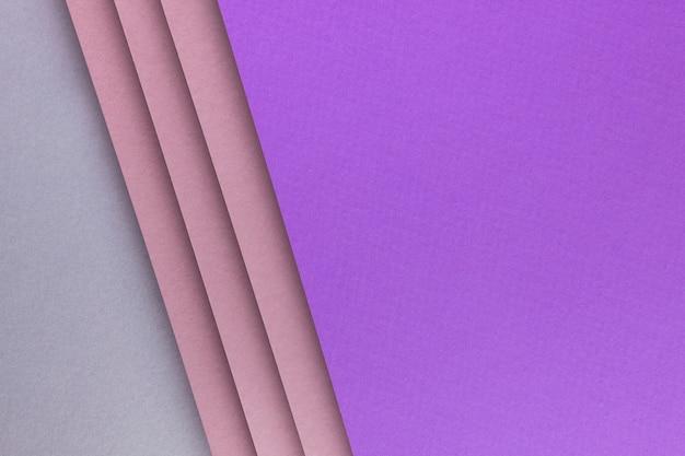 Vue de dessus de différentes feuilles de papier