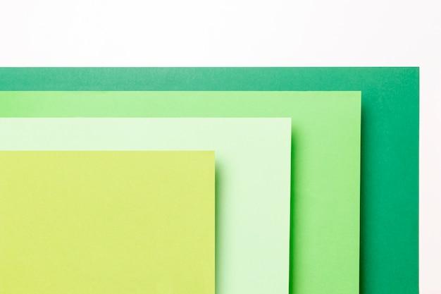 Vue de dessus différentes nuances de gros plan de motifs verts