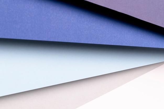 Vue de dessus différentes nuances de motif bleu