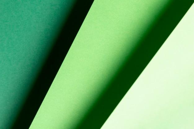 Vue de dessus différentes nuances de motifs verts