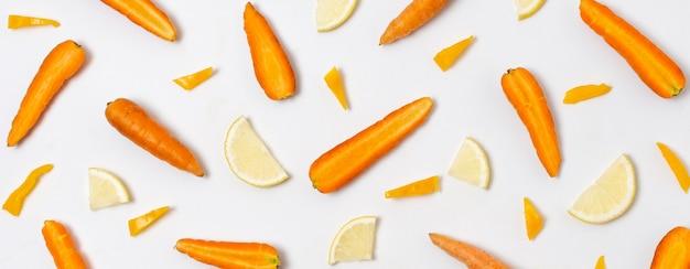 Vue de dessus de la disposition de délicieux produits mûrs