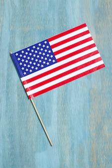 Vue de dessus drapeau usa