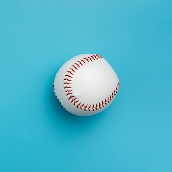 Vue de dessus du baseball