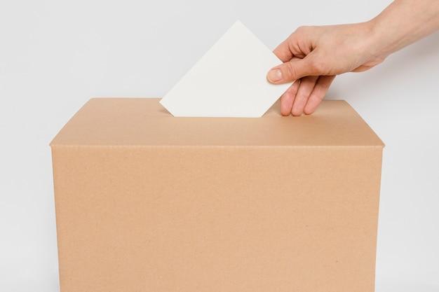 Vue de dessus du concept des élections avec espace copie