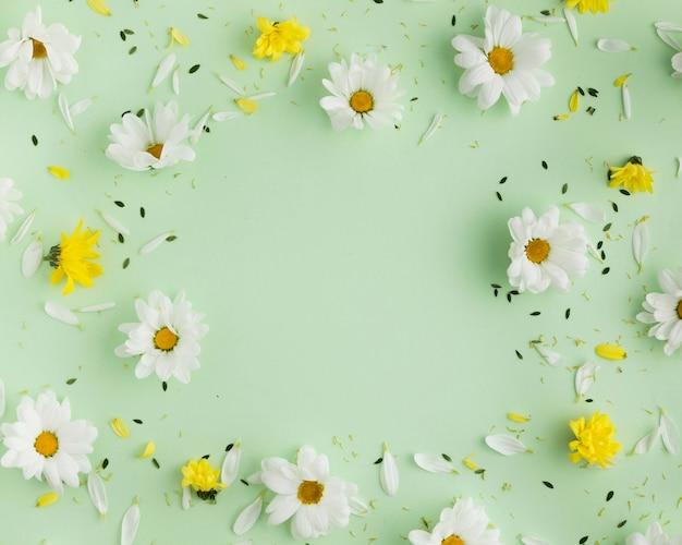 Vue de dessus du concept floral beautful