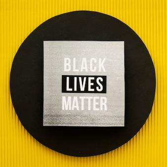 Vue de dessus du concept de vie noire