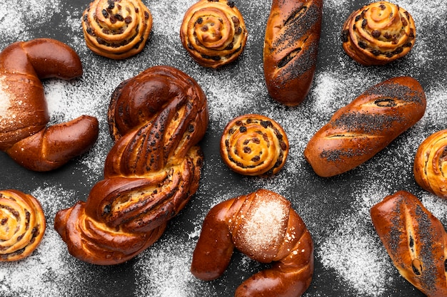 Vue De Dessus Du Délicieux Concept De Pâtisserie Photo gratuit
