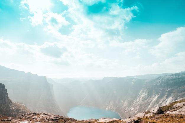 Vue de dessus du fjord norvégien