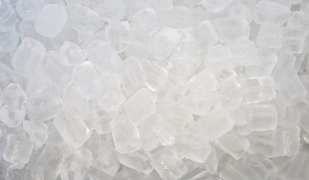 Vue de dessus du fond du tube de glace.