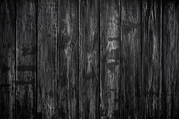 Vue de dessus du fond noir texture bois, table en bois vierge pour la conception.