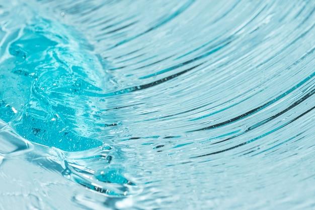 Vue de dessus du gel hydroalcoolique