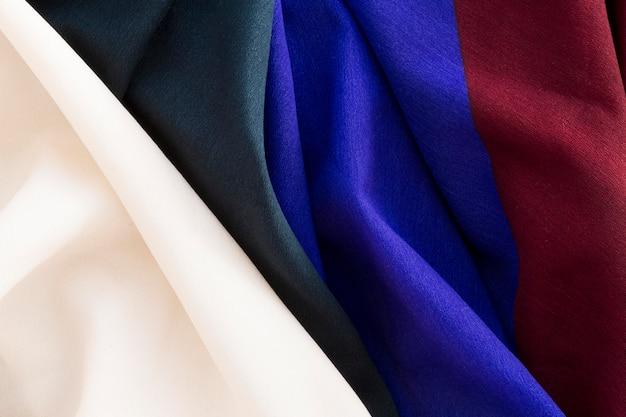Vue de dessus du matériau textile