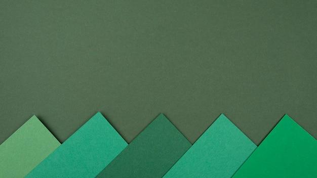 Vue de dessus du motif monochromatique avec espace copie