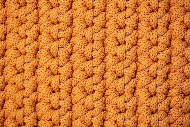 Vue de dessus du tissu tricoté