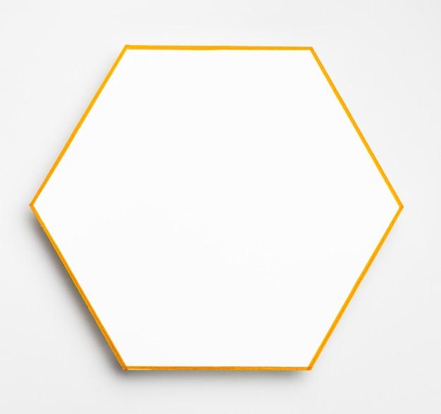 Vue de dessus élégant cadre doré