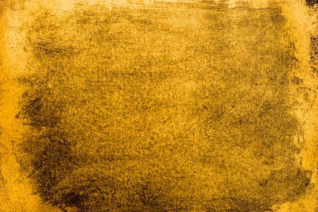Vue de dessus élégante texture dorée