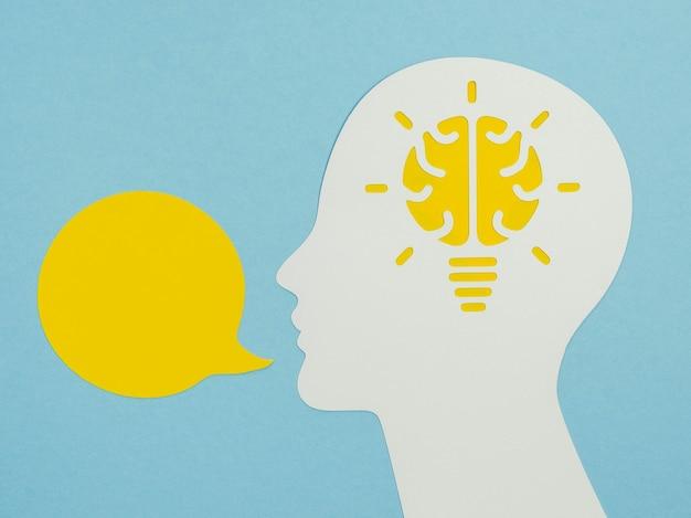 Vue de dessus des éléments du concept d'optimisme