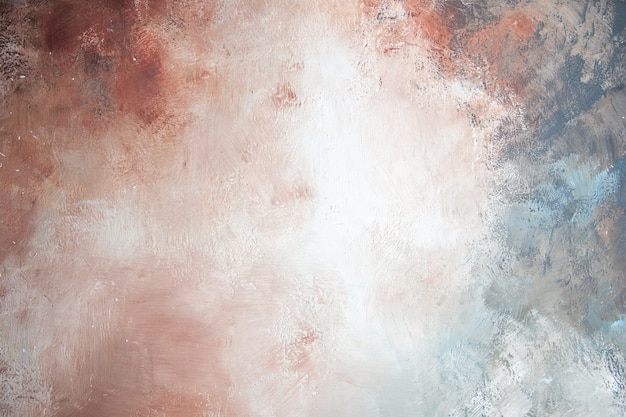 Vue de dessus fond beau fond blanc-gris-marron-crème-bleu
