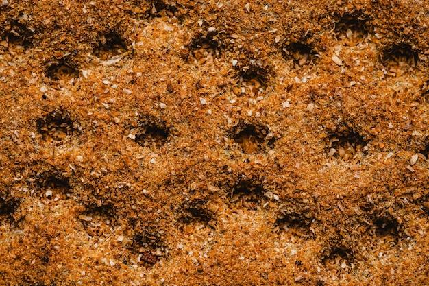 Vue de dessus fond organique marron