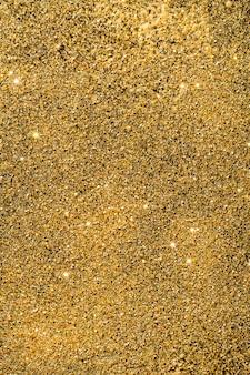 Vue de dessus fond de paillettes dorées