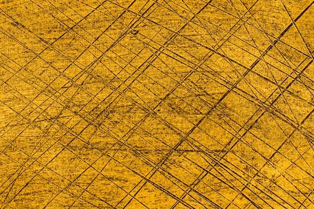 Vue de dessus fond de surface dorée