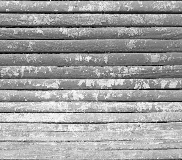 Vue de dessus fond de texture de planche de bois vieux noir et blanc