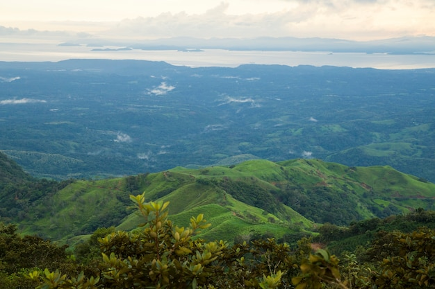 Vue de dessus de la forêt tropicale par temps pluvieux