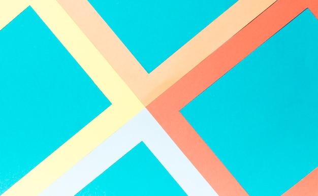 Vue de dessus des formes géométriques colorées