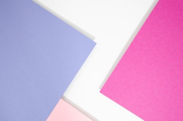 Vue de dessus des formes et des lignes géométriques minimales