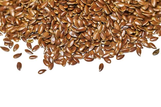 Vue de dessus des graines de lin