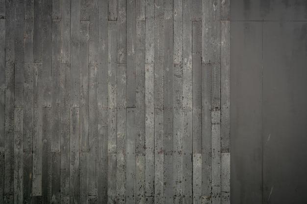 Vue de dessus gris vieux fond de texture de plancher en bois. fond de texture de surface de planche de bois.