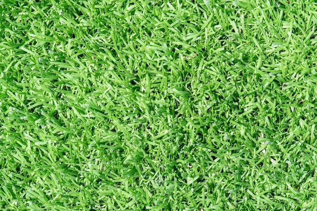 Vue de dessus herbe artificielle terrain de football texture de fond