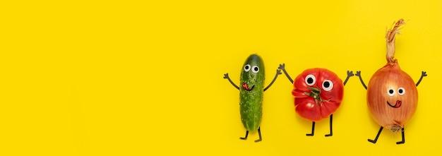 Vue de dessus des légumes avec espace de copie