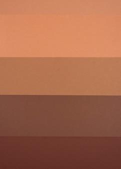 Vue de dessus des lignes horizontales monochromes
