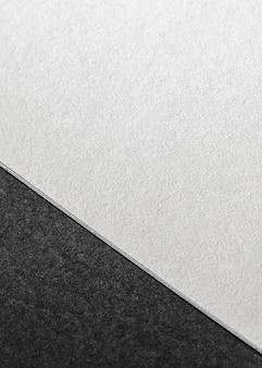 Vue de dessus de la marque en gros plan papier texturé
