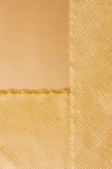 Vue de dessus en matériau doré élégant
