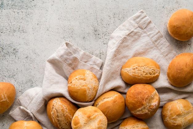 Vue de dessus mélange de petits pains