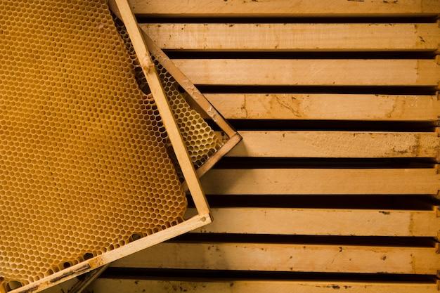 Vue de dessus en nid d'abeille