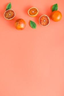 Vue de dessus des oranges