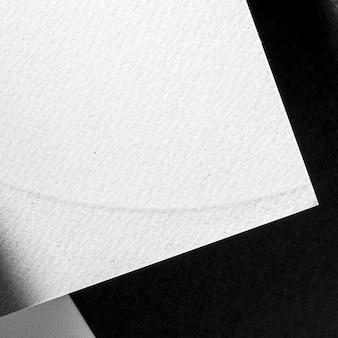 Vue de dessus de papier texturé blanc gros plan