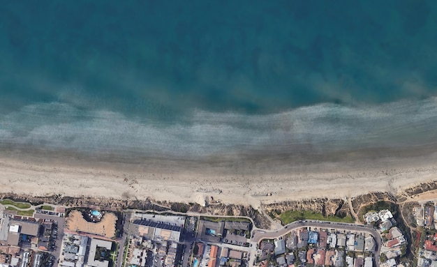 Vue de dessus par satellite texture sur tourmaline california