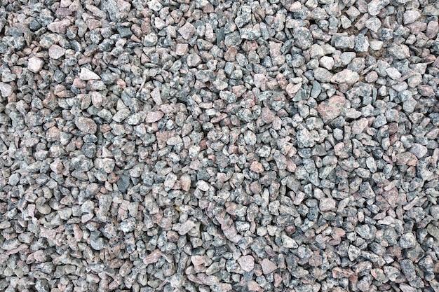 Vue de dessus de pierres grises