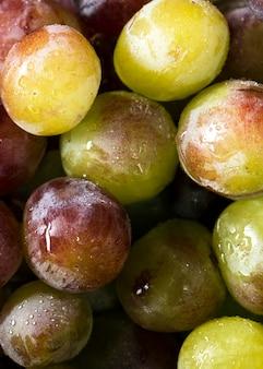 Vue de dessus des raisins d'automne