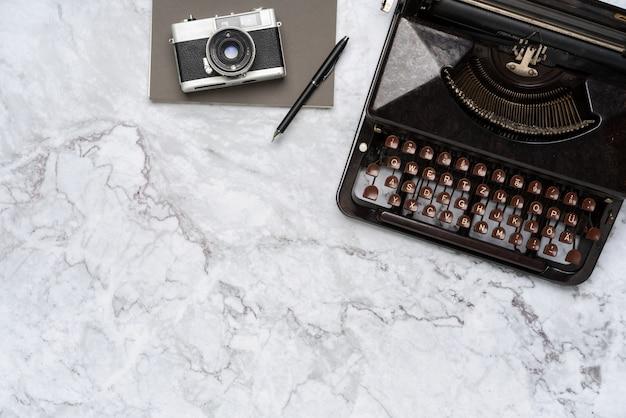 Vue de dessus stationnaire gris et blanc pour concept créatif
