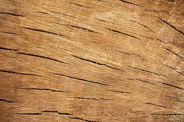 Vue de dessus de la surface en bois fissurée