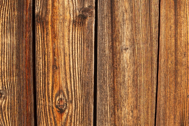 Vue de dessus de la surface en bois