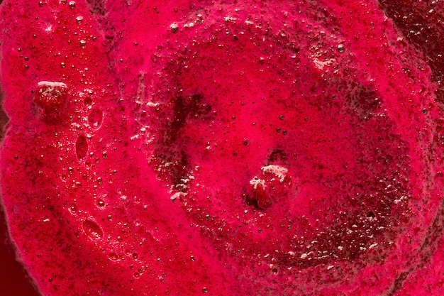 Vue de dessus surface crémeuse rouge
