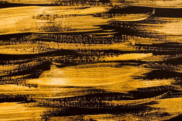 Vue de dessus surface dorée abstraite