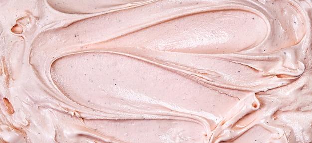 Vue de dessus de la surface de la glace à la framboise rose